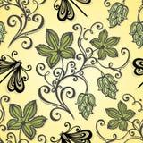 Nahtloses Blumenmuster (Vektor) Lizenzfreies Stockfoto