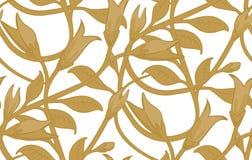 Nahtloses Blumentapeten-Muster Stockfoto
