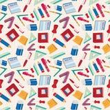 Nahtloses Briefpapiermuster Lizenzfreie Stockbilder
