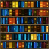 Nahtloses Buch-Regal Lizenzfreie Stockfotografie