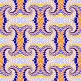 Nahtloses buntes abstraktes Muster des Designs. Rotationselemente twisti Lizenzfreie Stockfotografie