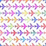 Nahtloses buntes Beschaffenheitsflugzeug Stockfotos