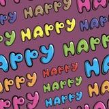 Nahtloses buntes glückliches Stockfotos