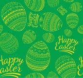 Nahtloses buntes glückliches Ostern-Muster Stockbilder