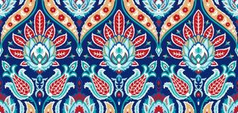 Nahtloses buntes Muster des Vektors in der türkischen Art Dekorativer Hintergrund der Weinlese Hand gezeichnete Verzierung Islam, stock abbildung