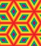Nahtloses buntes Rautenmuster Schillernder polygonaler geometrischer abstrakter Hintergrund Stockfotos