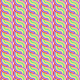 Nahtloses buntes wellenartig bewegendes Muster des Designs stock abbildung