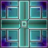 Nahtloses Buntglasfenster stock abbildung