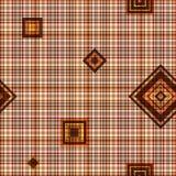 Nahtloses checkered braunes Muster Stockbilder