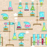 Nahtloses Chemiemuster Lizenzfreies Stockfoto