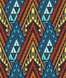 Nahtloses Chevron-Muster mit Dreiecken Stockfotografie