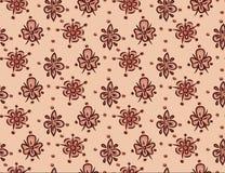 Nahtloses dekoratives Blumenschablonenmuster Lizenzfreies Stockfoto