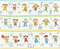 Nahtloses dekoratives Muster für Kinder Stockfotografie