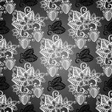 Nahtloses dekoratives Muster mit Erdbeere Stockfotos