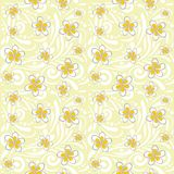 Nahtloses dekoratives Muster mit Plumeriablumen Lizenzfreies Stockbild
