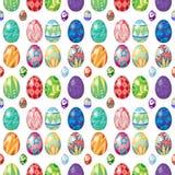 Nahtloses Design mit Ostereiern Stockbild
