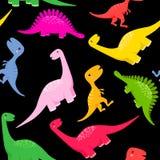 Nahtloses Dinosauriermuster lizenzfreie abbildung