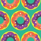 Nahtloses Donut-Muster Stockfotos
