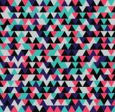Nahtloses Dreieck-Muster Es kann für Leistung der Planungsarbeit notwendig sein Stockfotografie