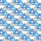 Nahtloses Dreieck-Muster Geometrischer abstrakter Hintergrund Vektor Lizenzfreies Stockfoto