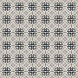 Nahtloses dunkelblaues u. Grey Damask Wallpaper Pattern Lizenzfreies Stockbild