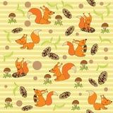 Nahtloses Eichhörnchen des Spaßes Lizenzfreie Stockbilder