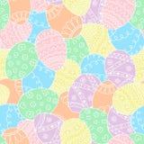 Nahtloses einfaches Muster des Vektors mit Ostereiern Schöner Hintergrund Lizenzfreie Stockfotografie