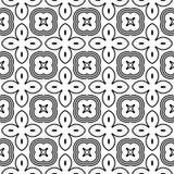 Nahtloses einfarbiges Blumenmuster des Designs Lizenzfreie Stockfotografie