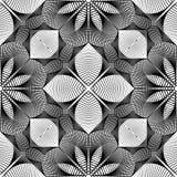 Nahtloses einfarbiges Blumenmuster des Designs Lizenzfreies Stockbild