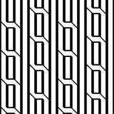 Nahtloses einfarbiges geometrisches Muster des Entwurfs Lizenzfreie Stockbilder