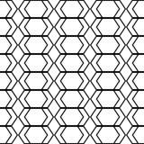 Nahtloses einfarbiges geometrisches Muster des Entwurfs Lizenzfreie Stockfotografie