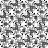 Nahtloses einfarbiges geometrisches Muster des Entwurfs Lizenzfreie Abbildung
