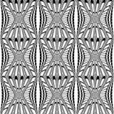 Nahtloses einfarbiges gestreiftes Muster des Designs Lizenzfreie Stockfotografie