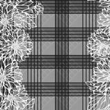 Nahtloses einfarbiges Muster mit Dahlienblumen Lizenzfreie Stockfotos
