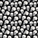 Nahtloses einfarbiges Muster Schädel-Halloweens Lizenzfreies Stockbild