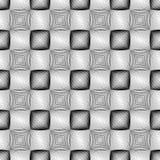 Nahtloses einfarbiges quadratisches Muster des Designs Stockbilder