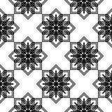 Nahtloses einfarbiges Schneeflockenmuster des Designs Vektor Abbildung