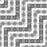 Nahtloses einfarbiges Spitzen- Muster des Designs Stockbilder