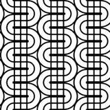 Nahtloses einfarbiges wellenartig bewegendes Muster des Designs Stockbild