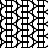 Nahtloses einfarbiges wellenartig bewegendes Muster des Designs Stockbilder