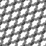 Nahtloses einfarbiges wellenartig bewegendes Muster des Designs Vektor Abbildung