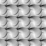 Nahtloses einfarbiges wellenartig bewegendes Muster des Designs Lizenzfreie Stockfotografie