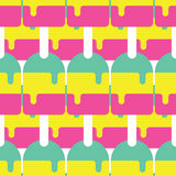 Nahtloses Eis am Stiel-Muster, Süßigkeits-Vektor, Süßigkeits-Muster, Eis am Stiel-Vektor Lizenzfreies Stockfoto