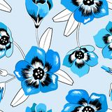 Nahtloses elegantes Blumenglockenblumemuster vektor abbildung