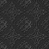Nahtloses elegantes dunkles Papiermuster 247 Dot Line Round Square der kunst 3D Stockfotos