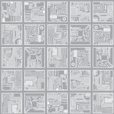 Nahtloses elektronisches Muster. Rechnerschaltungseber Lizenzfreies Stockfoto