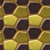 Nahtloses Entlastungsbodenmuster von polygonalen Steinen 3d in den natürlichen Farben Stockbilder