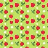 Nahtloses Erdbeermuster Lizenzfreie Stockfotos