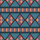 Nahtloses ethnisches Muster mit Diamanten Lizenzfreie Stockfotos
