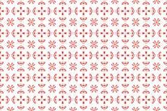 Nahtloses ethnisches rotes Blumenmuster der Stickerei auf einem weißen Hintergrund stock abbildung